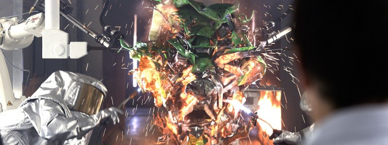 Particle sparks and FumeFX simulations for Transformers 4 - Age of Extinction Movie