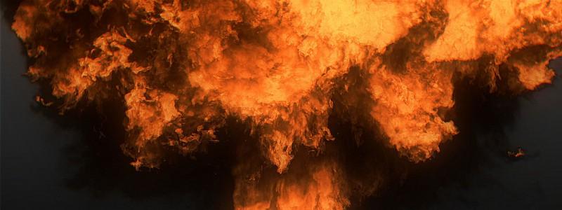 FumeFX explosion for Eega Movie